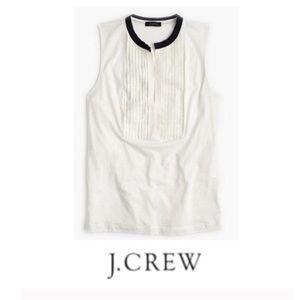 J. Crew Navy & White Tuxedo Tank